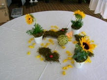 Décoration de table tournesols