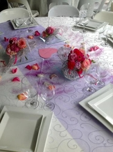 Décor de table coeur